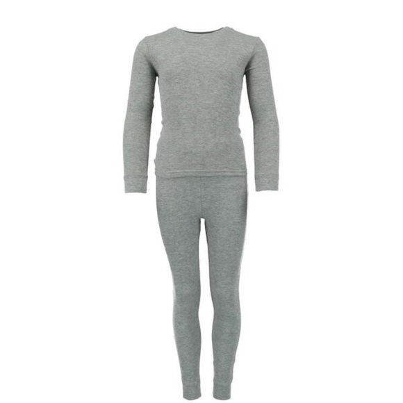 Only Other - NEW! Waffle Thermal Boys Gray Long Underwear Set